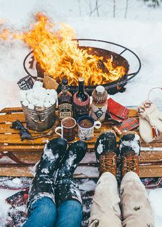 fetching free at home date ideas. Campfire  snow all the necessary whiskey s more accessories Winter Date Night A romantic snowshoe and fondue dinner for two My perfect