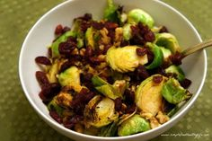 simplefoodhealthylife - Simple Food Healthy Life Home - Walnut Cranberry BrusselSprouts