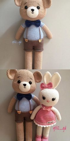 Crochet Bear, Crochet Animals, Crochet Toys, Free Crochet, Plush Pattern, Pattern Art, Free Pattern, Amigurumi Patterns, Amigurumi Doll