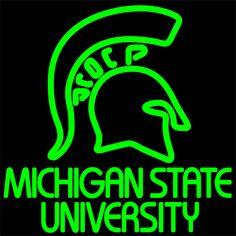 Michigan State Neon Sign 16x16