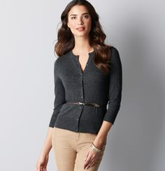 I love a good 3/4 sleeve cardi.  When on sale for 50% off, I love it even more.  So I bought it.