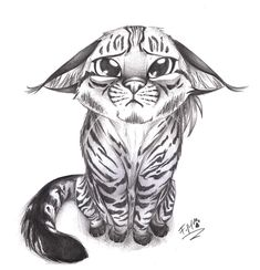 Loren long art just a cute cat? by loren-farlow cute drawing images, cut Kitten Drawing, Cute Cat Drawing, Cute Animal Drawings, Pencil Art Drawings, Animal Sketches, Cute Drawings, Drawing Sketches, Drawing Ideas, Easy Graffiti Drawings