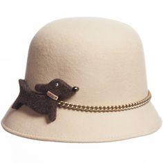 da2c29530ea RoRo Beige Felt Girls Hat at Childrensalon.com Felt Dogs