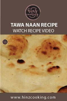 """Easy """"Tawa naan recipe"""" without tandoor or yeast. If you are looking how to make naan at home without tandoor then this easy naan recipe is for you. Easy Naan Recipe, Recipes With Naan Bread, Plain Naan, Naan Roti, How To Make Naan, Indian Food Recipes, Food Videos, Pakistan"""