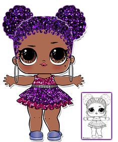Purple Queen Lol Big Surprise Ball Coloring Page Coloriage
