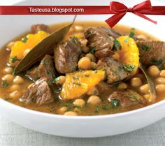 beef stew with orange and bay leaves