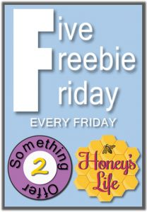 5 Freebie Friday with printables, giveaway and linky.