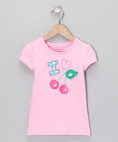 Pink Cherry Tee - Girls	 by Blow-Out: Girls' Apparel on #zulily!