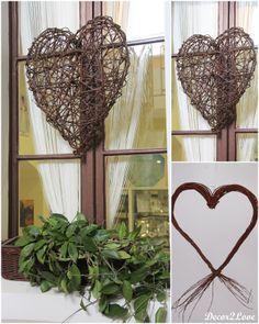 Vintage wedding decoration-braiding hearts -Vintage svadobné dekorácie- prútené srdcia