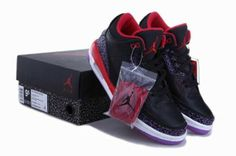 729e722f87e621 Online Popular For Sale Air Jordan 3 III Mens Shoes New Black Red Jordan  Retro 3