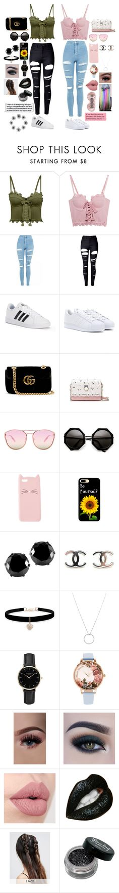 """""""The Same, Only Different"""" by willow-wonder ❤ liked on Polyvore featuring Puma, Topshop, WithChic, adidas, Gucci, Quay, Charlotte Russe, West Coast Jewelry, Betsey Johnson and Roberto Coin"""