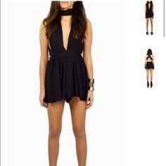 Multi way romper Black multiway romper can be worn over 5 different ways. Flowing shorts.available in small medium and large Other