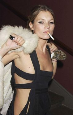 Sometimes I like her, Sometimes I don't...but without a doubt she is a badass. Kate Moss.