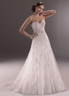 Strapless trouwjurk van kant op maat elegante bruidsjurk