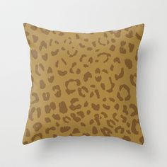 faux leopard Throw Pillow#leopard,#pattern#trendy,#decor