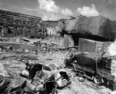 Partial view illustrating the Cherbourg Arsenal after the German surrender 29 June 1944. Photo of the destructions taken early July 1944.