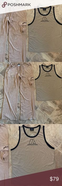 Abercrombie Men Tank Top Vest Workout Jogger Pants 100% authentic and brand new Abercrombie XL shirt. $49 original price. New!!! The tag is still attached. Big sale here!!! You are also getting one Joe Boxer used Pants in size L. Soft velour!!!!!! Abercrombie & Fitch Pants Sweatpants & Joggers
