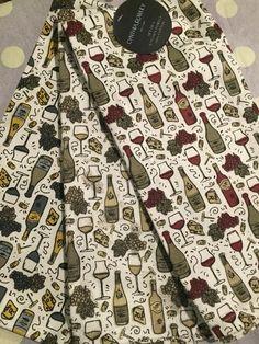 3 Cynthia Rowley Kitchen Towels Wine Bottles Glasses Corks Cheese NWT Home # CynthiaRowley