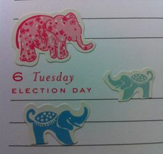 There are no donkey stickers in the Lilly Planner. :)