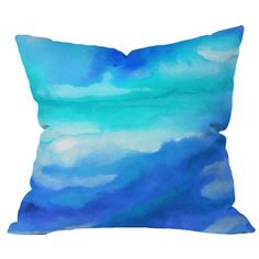 Inspiration: watercolor pillow