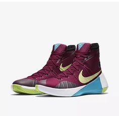 sports shoes f3f1d 4fafc Nike Hyperdunk 2015 N7 PRM 15 Garnet Maroon Liquid Lime Turquoise 811547-634