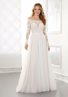 The Pre-Spring 2021 Collection has officially launched! Which means we get to take a closer look at all the enchanting dress details. Wedding Gowns With Sleeves, Long Sleeve Wedding, Bridal Wedding Dresses, Designer Wedding Dresses, Wedding Dress Pictures, Wedding Photos, Classic Wedding Dress, Dress Out, Dream Dress