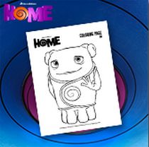 """Boov Oh coloring Page Dreamworks """"Home"""" Free Printables and Activities 