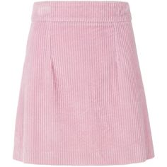 House Of Holland corduroy skirt ($440) ❤ liked on Polyvore featuring skirts, pink corduroy skirt, house of holland, house of holland skirt, pink skirt and corduroy skirt
