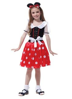Cute Mickey Costume Masquerade Party Bar Clothes for Girls