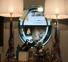 Cristal Arte Mirror on show at the Decorative Antiques Fair Stand F3 InteriorBoutiques.com #MidCentury #CristalArte #AntiquesFair #London