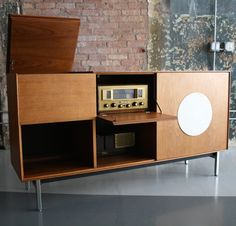 George Nelson; 'Thin Edge' Hi-Fi Cabinet for Herman Miller, 1950s.