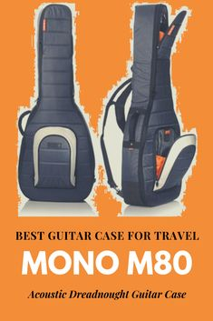 The Mono M80 is more than just a gig bag it is perfect for musicians travelling with their guitar, strapped on to their backs while cruising along the urban streets. #guitarcase #music #acousticguitar