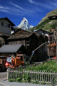 Zermatt, Switzerland --- I remember standing in this exact spot when I was in Zermatt.
