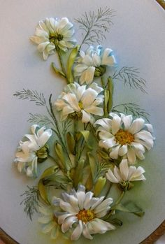 Wonderful Ribbon Embroidery Flowers by Hand Ideas. Enchanting Ribbon Embroidery Flowers by Hand Ideas. Ribon Embroidery, Ribbon Embroidery Tutorial, Embroidery Stitches, Embroidery Patterns, Embroidery Supplies, Ribbon Art, Ribbon Crafts, Band Kunst, Brazilian Embroidery