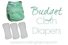 Budget Cloth Diapers review and overview of budget cloth diaper options.