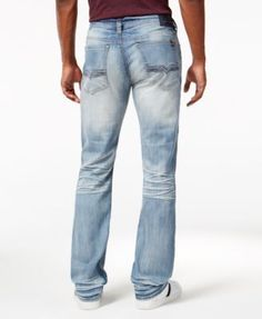 Buffalo David Bitton Men's King-x Boot Cut Jeans - Blue 33x34