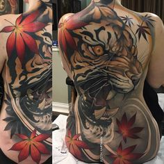 Here are a couple more views of Heather's tiger I wanted to share. Really like the way a full back looks while sitting @fusion_ink