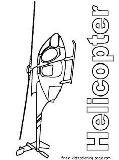 free printable coloring pages Helicopters