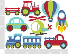 Vroom Vroom Transportation Digital Clip Art por printcandee