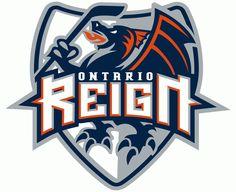 Ontario Reign Primary #Logo 2009 | American Sport Theme Logo
