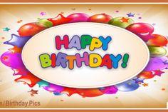 Star Shaped Balloons Gold Happy Birthday Card