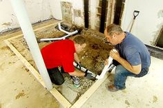 with This Old House plumbing and heating expert Richard Trethewey | thisoldhouse.com | from How to Install a Basement Bathroom