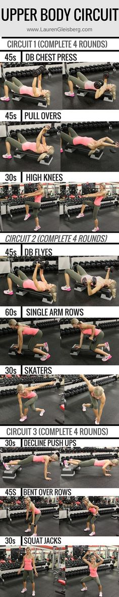 Upper Body Circuit   find full workout plans at -> LaurenGleisberg.com