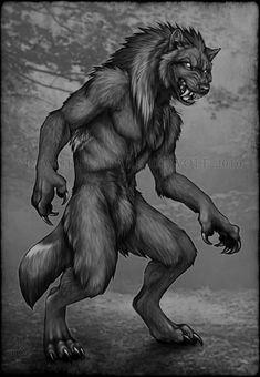 Birthday Cake Werewolf by DarkIceWolf on @DeviantArt