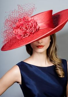 Rachel Trevor-Morgan Millinery - Fine straw picture hat with veiling choux and rose