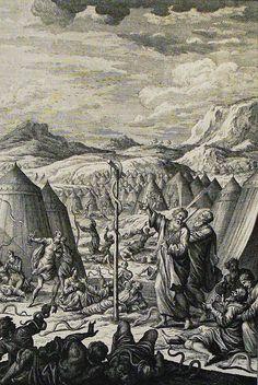 Phillip Medhurst Bible 568. The Israelites bitten by fiery serpents. Numbers cap 21 vv 6-9. Heuman on Flickr.Phillip Medhurst Bible 568. The Israelites bitten by fiery serpents. Numbers cap 21 vv 6-9. Heuman