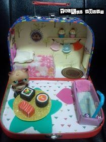Taurus Mommy: DIY Portable Dollhouse: Tutorial for Handmade Miniature Furniture (BONUS! Video)