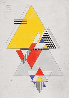 """This piece is abstract but it has unity. It's unity is represented by triangular and linear shapes. """" Bauhaus / Art as Life / Art and Technology - A new Unity / Kunst und Technik - Eine neue Einheit """" History Design, Art Design, Art And Technology, Painting, Bauhaus Art, Design Art, Art Movement, Poster Design, Abstract"""