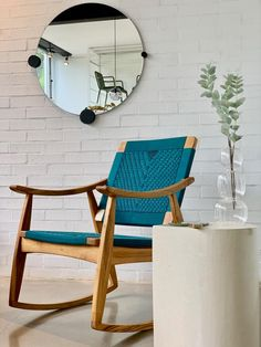 Our new Izapa Rocking Chair is a hit! It has the same comfortable back slant as the tradition Izapa Arm Chair, but now with the additional relaxation of a rocker. 💮 Home Phone, Living Room Inspiration, Rocking Chair, Wood Furniture, Contemporary Design, Free Design, Hardwood, Armchair, Relax