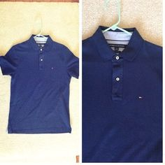 NWOT Tommy Hilfiger Navy Polo NWT! Slim Fit Polo!  Retails for $60 Tommy Hilfiger Shirts Polos